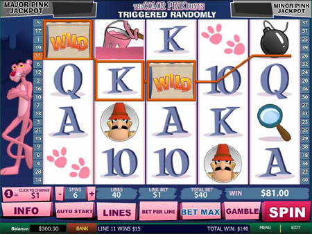 The Pink Panther Slots - Play this Video Slot Online
