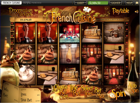 French Cuisine 3-D Slot Game