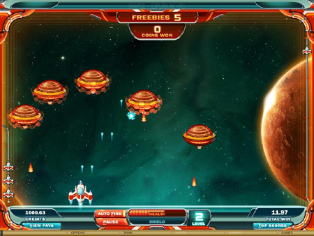Max Damage and the Alien Attack Arcade Game Slot
