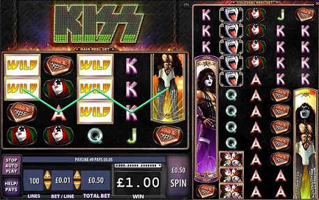 KISS slot game