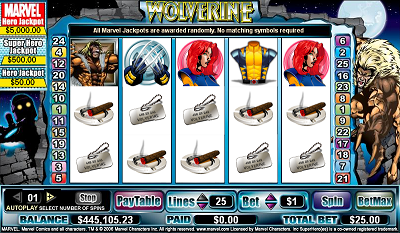 Wolverine slot game