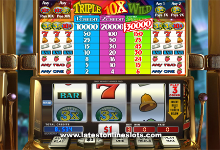 Triple 10X Wild slot