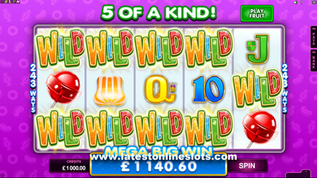 Microgaming Fruit Vs Candy Slot Has It All Latest Online Slots